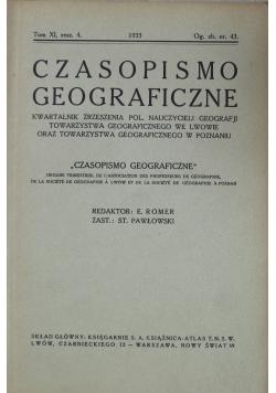 Czasopismo geograficzne tom XI zeszyt 4 1933 r.