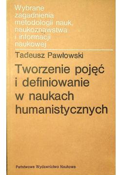 Tworzenie pojęć i definiowanie w naukach humanistycznych