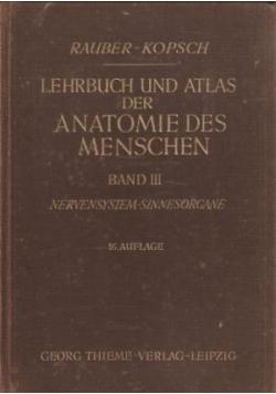 Lehrbuch und atlas der anatomie des menschen Band III