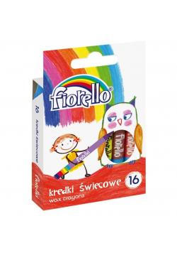 Kredki świecowe 16 kolorów FIORELLO