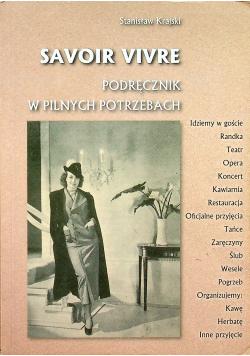 Savoir Vivre Podręcznik w Pilnych Potrzebach + Autograf Krajski