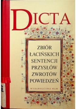 Dicta zbiór łacińskich sentencji przysłów zwrotów powiedzeń