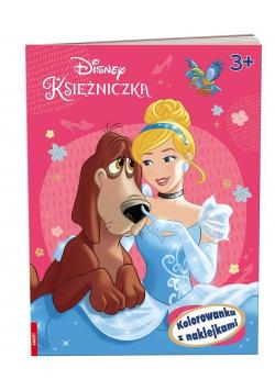 Disney Księżniczka. Kolorowanka z naklejkami