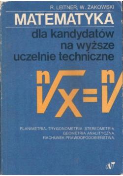 Matematyka dla kandydatów na wyższe uczelnie techniczne część 2