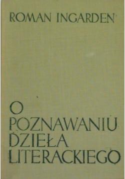 O poznawaniu dzieła literackiego