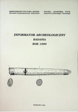 Informator archeologiczny badania rok 1990