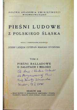 Pieśni ludowe z polskiego Śląska tom II 1938 r.