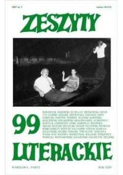 Zeszyty literackie 99 3/2007