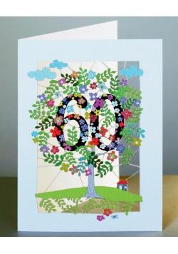 Karnet PM160 wycinany + koperta Urodziny 60