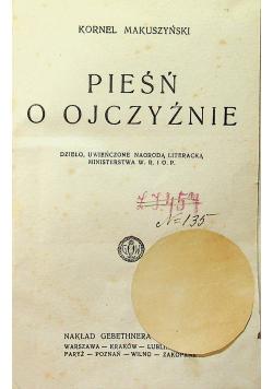 Pieśń o Ojczyźnie 1928 r.