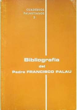 Bibliografia del Padre Francisco Palau