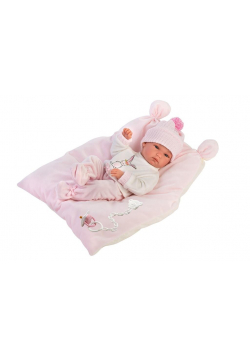 Lalka 63556 bobas Bimba na różowej poduszce 35cm