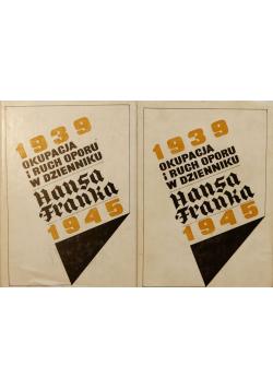 Okupacja i ruch oporu w dzienniku  hansa Franka 1939-1945 2 tomy