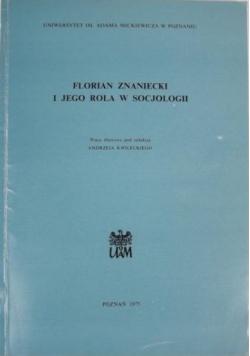 Florian Znaniecki i jego rola w socjologii