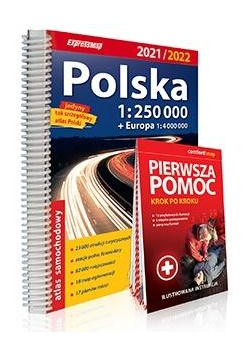Atlas samachodowy Polska 1:250 000 2021/2022 + PP