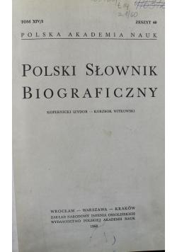 Polski słownik biograficzny tom XIV Zeszyt 60 - 63