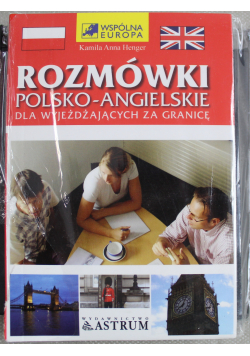 Rozmówki polsko - angielskie dla wyjeżdżających za granicę + płytą CD Nowa