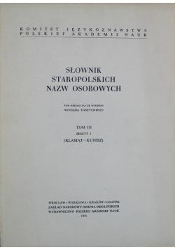 Słownik staropolskich nazw osobowych tom 3 zeszyt 1