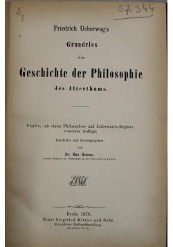 Geschichte der Philosophie des Alterhums 1876 r