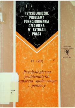 Psychologiczne problemy funkcjonowania człowieka w sytuacji pracy  Nr 11