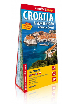 Comfort! map Chorwacja i Czarnogóra 1:300 000