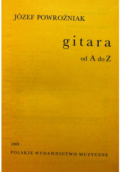 Gitara od A do Z
