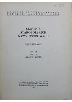 Słownik staropolskich nazw osobowych tom 3 zeszyt 2