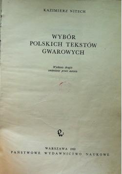 Wybór polskich tekstów gwarowych wydanie drugie