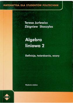 Algebra liniowa 2 Definicja twierdzenia wzory