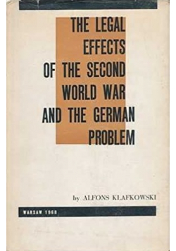 The legal effects of the Second World War and the German problem