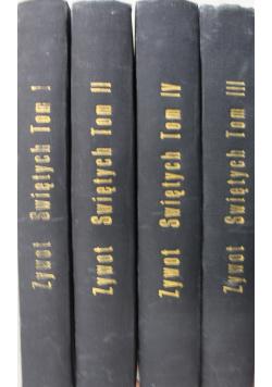 Żywoty Świętych Starego i Nowego Zakonu 4 tomy ok 1933 r.