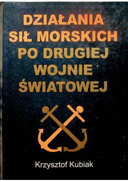 Działania sił morskich po drugiej wojnie światowej