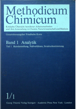 Methodicum Chimicum Band 1 Teil 1