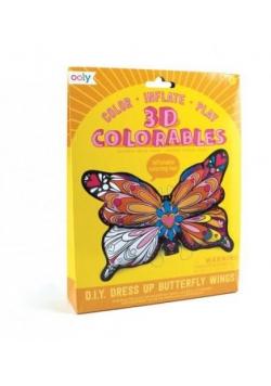 Kolorowanka 3D Motyle skrzydła