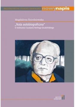 """""""Nuta autobiograficzna"""" O twórczości Gustawa.."""