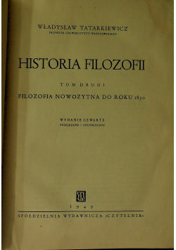 Historia filozofii tom 2 1949 r.