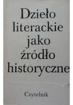 Dzieło literackie jako źródło historyczne