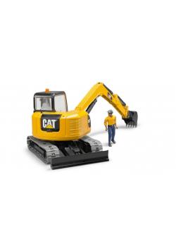 Minikoparka CAT z figurką robotnika