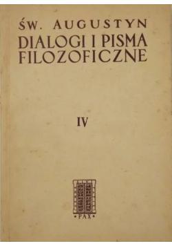 Dialogi i pisma filozoficzne Tom IV