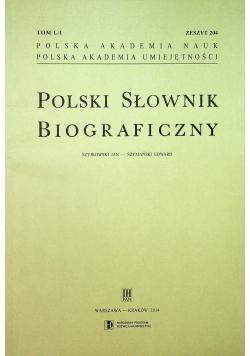 Polski Słownik Biograficzny Zeszyt 204