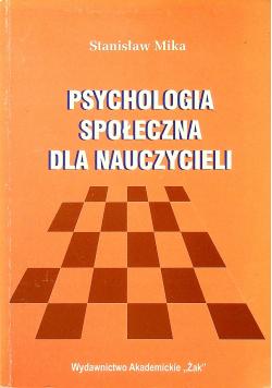 Psychologia społeczna dla nauczycieli