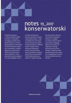 Notes Konserwatorski nr. 19/2017