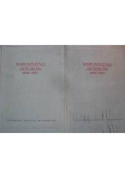 Wspomnienia aktorów 1800 1925 Tom I i II