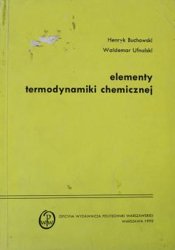 Elementy termodynamiki chemicznej