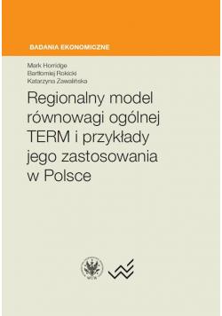 Regionalny model równowagi ogólnej TERM..