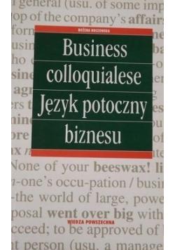 Business colloquialese Język potoczny biznesu