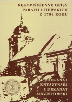 Rękopiśmienne Opisy Parafii Litewskich z 1784 roku Zeszyt 2