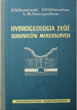 Hydrologia złóż surowców mineralnych