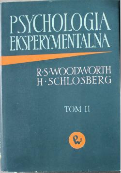 Psychologia eksperymentalna Tom II
