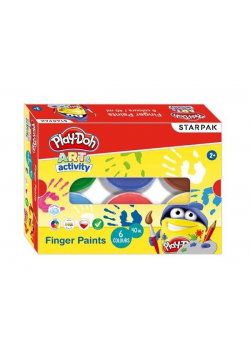 Farby do malowania palcami 6 kolorów